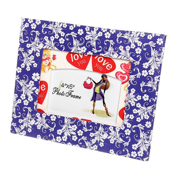Фоторамка из керамики ″Любовь, сердечки″ волна 10*15 см купить оптом и в розницу