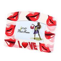 Фоторамка из керамики ″Любовь, губки″ волна 10*15 см купить оптом и в розницу