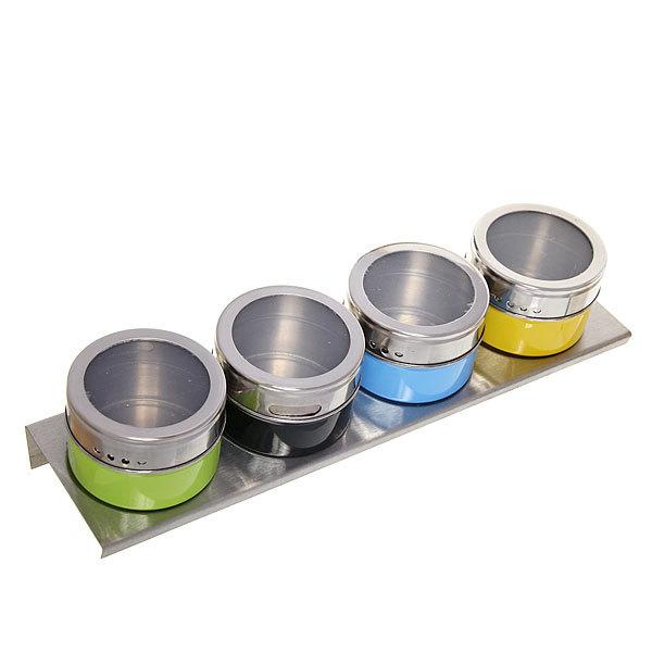 Набор для специй на магните 4 шт цветной купить оптом и в розницу
