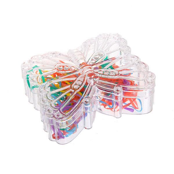 Резинки силиконовые для волос 90шт ″Бабочка″, цвет микс купить оптом и в розницу