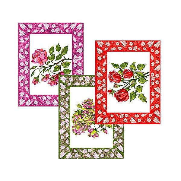 Полотенце кухонное 48*62см Розы 3 цвета МТ71-93 купить оптом и в розницу