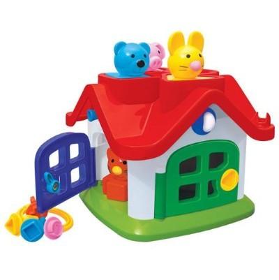 Логич.игрушка Теремок в сетке  9159 /П-Е/6/ купить оптом и в розницу