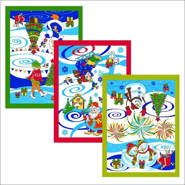 Полотенце вафельное 48*62см ″Новогодние каникулы″ купить оптом и в розницу