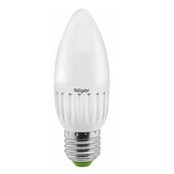 Лампа светодиодная Navigator Standard NLL-P-C37-5-230-2.7K-E27-FR свеча матов.,аналог 40Вт (10/100) купить оптом и в розницу