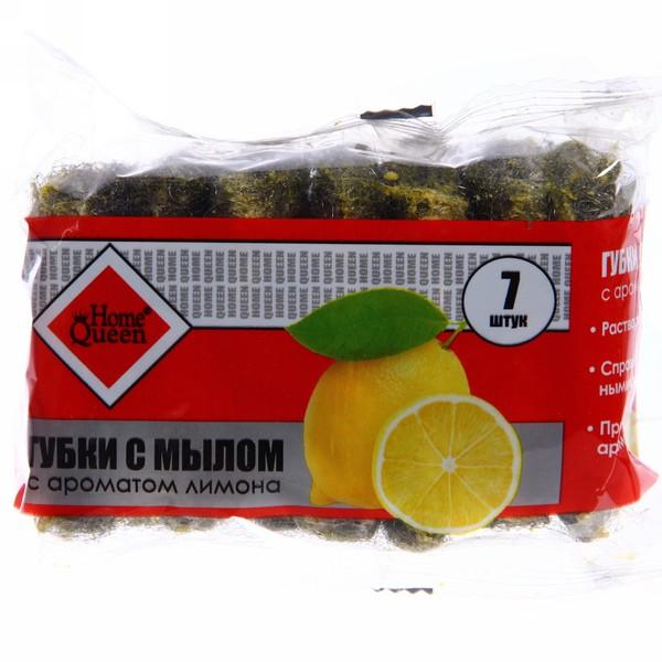 Губки с мылом, запах яблока и лимона, упаковка 7 шт. купить оптом и в розницу