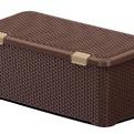 Ящик Люкс плетеный с крышкой L(корич) *4 (790 x 380 x 330)мм купить оптом и в розницу
