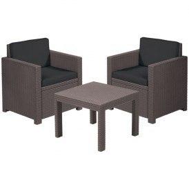 Набор мебели для сада MERANO 2 стула,диван,стол /серый/антрацит с подушками купить оптом и в розницу