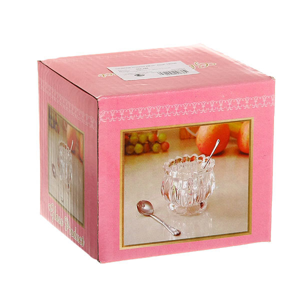 Сахарница стеклянная 200 мл ″Ажур″ TG1160 купить оптом и в розницу