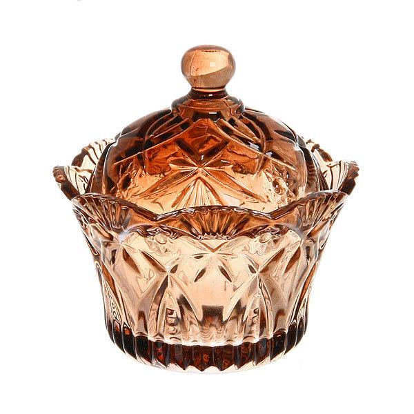Сахарница стеклянная 250 мл ″Ажур″ Корона купить оптом и в розницу