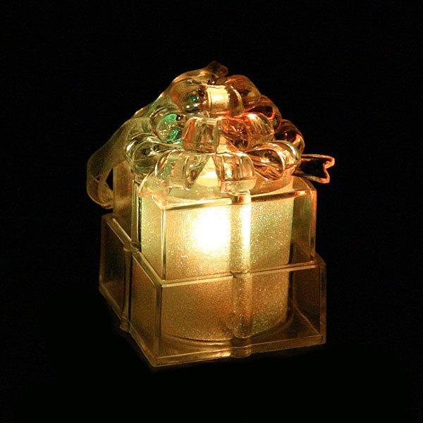 Фигурка с подсветкой ″Подарочек хрусталь″ 6*5см купить оптом и в розницу