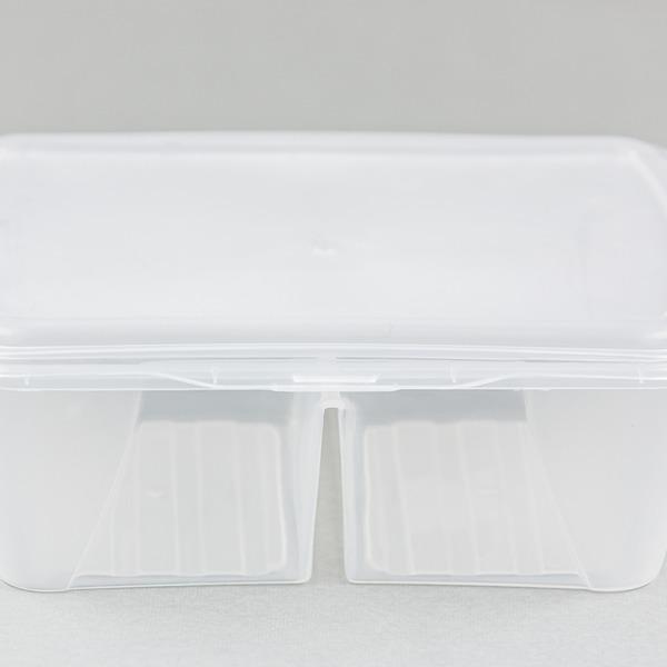 Контейнер пищевой двухсекционный 1,6л  Ар-пласт  *20 купить оптом и в розницу