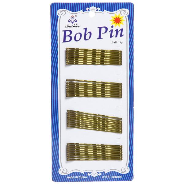 Зажим-невидимка для волос золото 36шт 5,5см 020-6 купить оптом и в розницу
