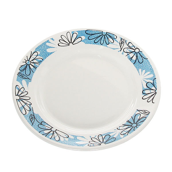 Тарелка керамическая 17,5 см мелкая Ромашки СК_057 Д купить оптом и в розницу