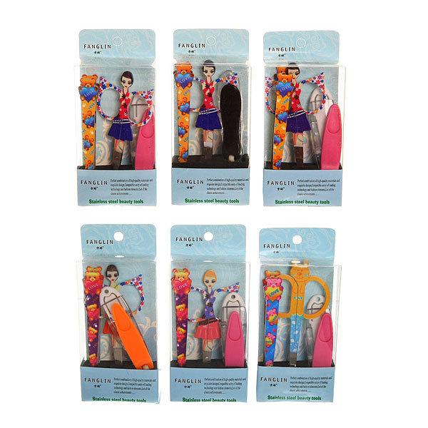 Набор для маникюра в футляре 4 предмета ″Гламурные девочки″ купить оптом и в розницу