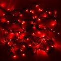 Гирлянда светодиодная уличная 11,5 м, 100 ламп LED Красный, 8 реж, зелен.пров. купить оптом и в розницу