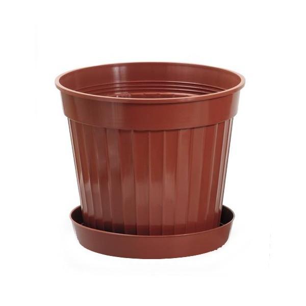 Кашпо для цветов КЛАССИК 12л №10 с поддоном террак. *10 (Ангора) купить оптом и в розницу