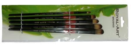 Кисти   набор Нейлон плоские 5шт (№1-5) YIWU купить оптом и в розницу