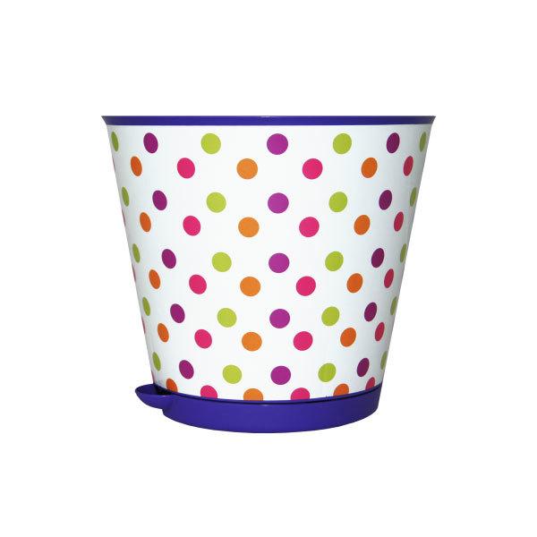 Горшок для цветов Крит с системой прикорневого полива 3,6л. Горошек ING46020ГОР купить оптом и в розницу