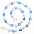 Бусы на ёлку серебро, синие 1,5м ″Шарики блестящие″ купить оптом и в розницу