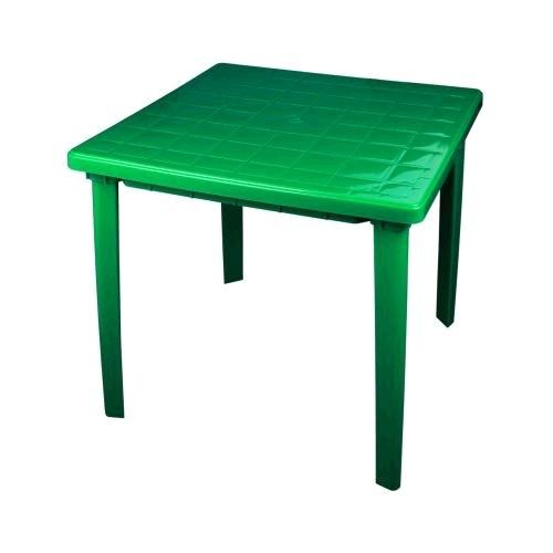 Стол квадратный (800х800х740)(зелёный)(уп.1)  (Октябрьский) купить оптом и в розницу