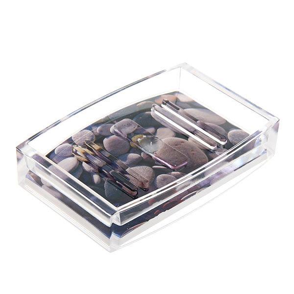 Набор для ванной из 4-х предметов 8002-7 камушки купить оптом и в розницу