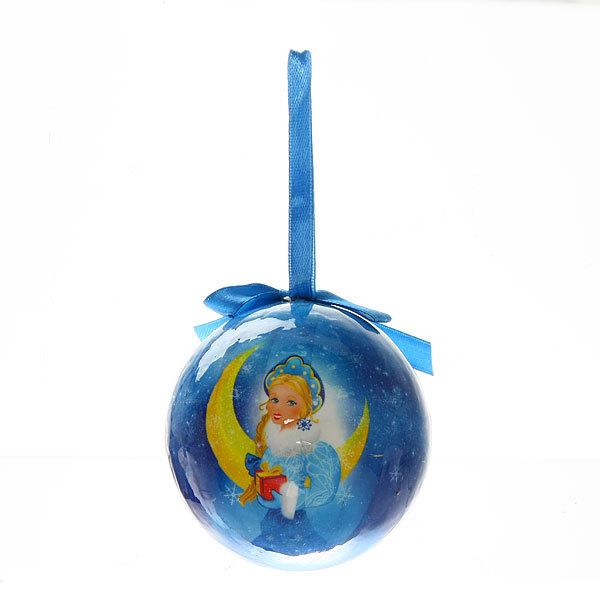 Новогодний шар ″Снегурочка″ 8см купить оптом и в розницу