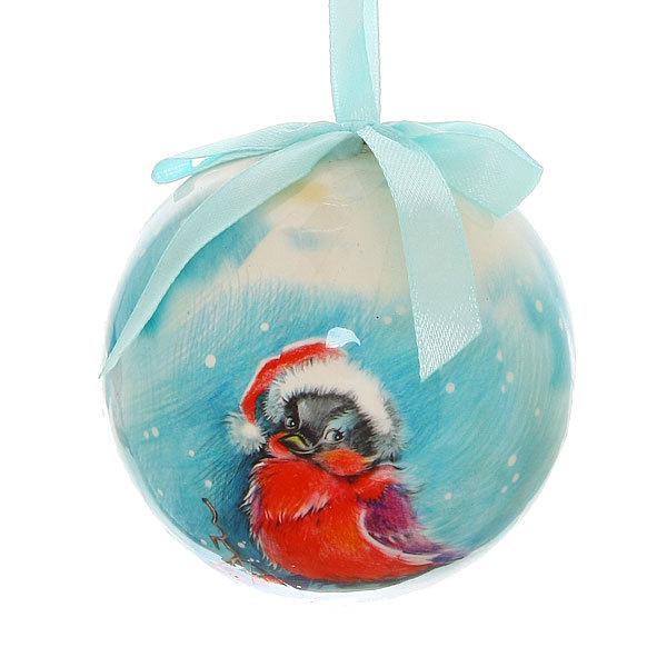 Новогодний шар ″Снегирь″ 8см купить оптом и в розницу