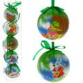 Новогодние шары ″Теремок″ 8см (набор 5шт.) купить оптом и в розницу