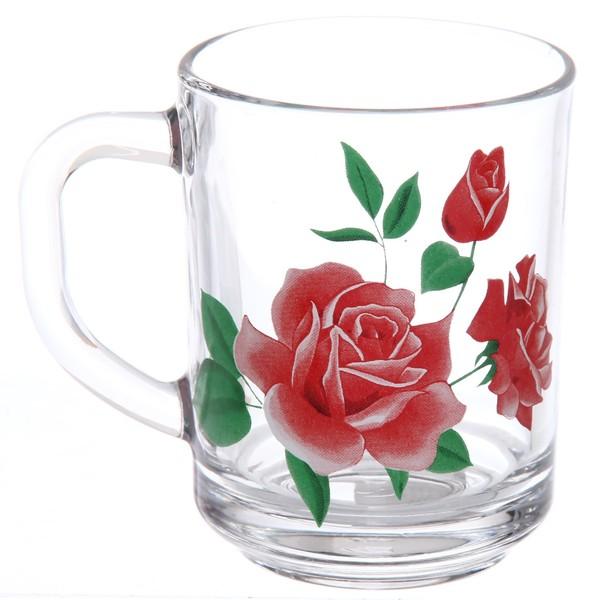 Кружка 200мл ″Розовая роза″ купить оптом и в розницу