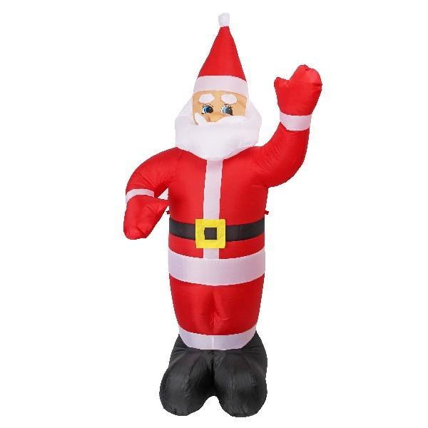 Фигура надувная ″Дед Мороз приветствует″ 2,1м купить оптом и в розницу