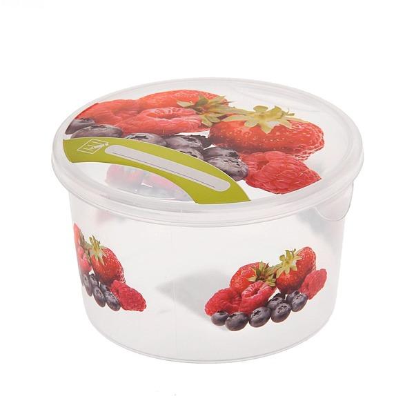 Емкость для продуктов Браво Ягоды круглая 0,5 л *50 купить оптом и в розницу
