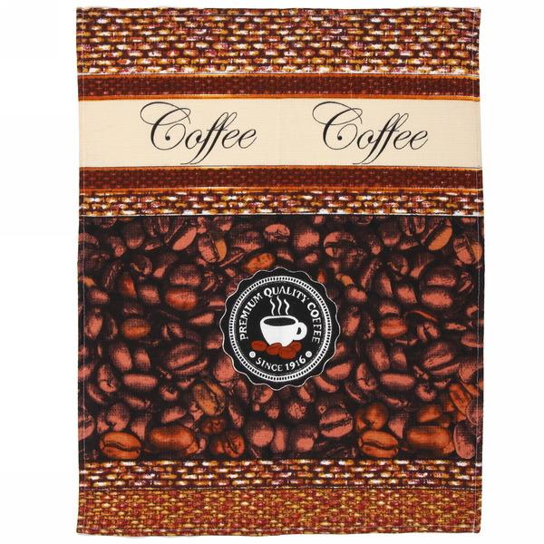 Полотенце вафельное 45*60см ″Аромат кофе″ купить оптом и в розницу