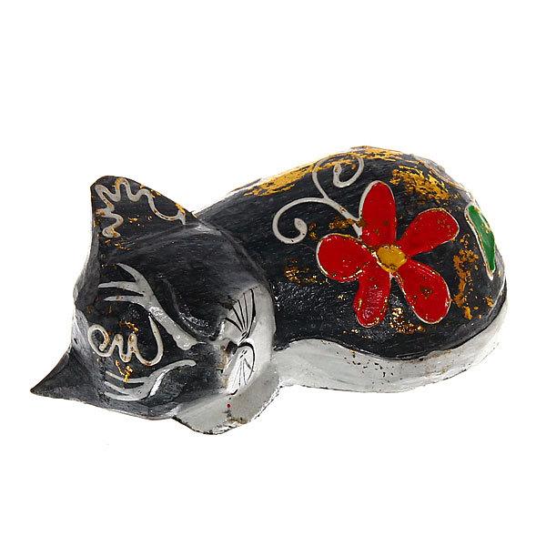 Фигурки из дерева ″Кошки спящие 3шт″, 10см купить оптом и в розницу