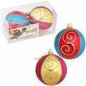 Новогодние шары ″Цирк″ 8см (набор 2шт.) купить оптом и в розницу