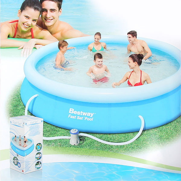 Бассейн надувной Fast Set 366*76 см + фильтр-насос 1249 л/ч (I) Bestway (57112) (57274) купить оптом и в розницу