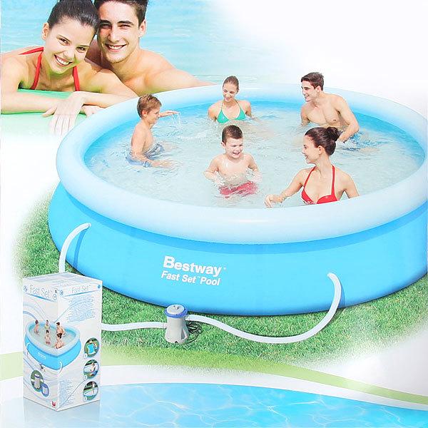 Бассейн надувной Fast Set 366х76 см + фильтр-насос 1249 л/ч (I) Bestway (57112) купить оптом и в розницу