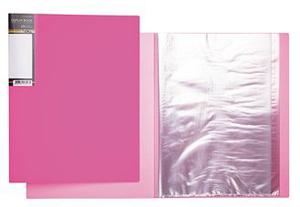 """Папка с 40 вклад.Hatber """"HD"""" Неоново-розовая, 21мм купить оптом и в розницу"""