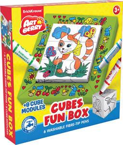 Набор д/дет.творч. Artberry Cubes Fun box, мини джамбо флом. 6 цв.+ 9 кубиков д/раскраш. купить оптом и в розницу