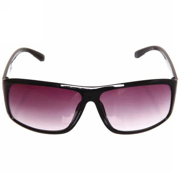 Очки солнцезащитные, стиль спортивный ″Мода-2017″, цвет черный, литые, глянцевая оправа купить оптом и в розницу