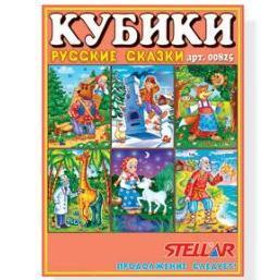 Кубики в картинках 12шт Русские сказки 00825 /16/ купить оптом и в розницу
