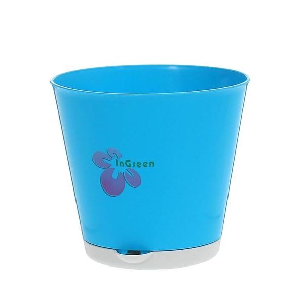 Горшок для цветов Крит D 120 mm с системой прикорневого полива 0,7л светло-си *16 купить оптом и в розницу