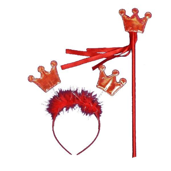 Карнавальный аксессуар ″Принцесса″ ободок карнавальный +волшебная палочка 546-1 купить оптом и в розницу