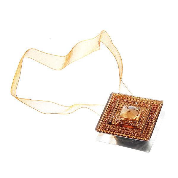 Подхват для штор на магните ″Квадрат кофе″ 4см S572А купить оптом и в розницу