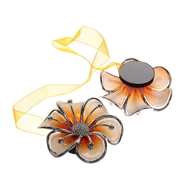 Подхват для штор на магните ″Нежность оранжевая″ 5см S246 купить оптом и в розницу
