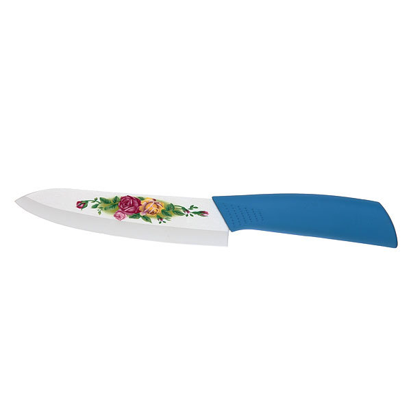 Нож кухонный керамический ″Розы″ 14см купить оптом и в розницу