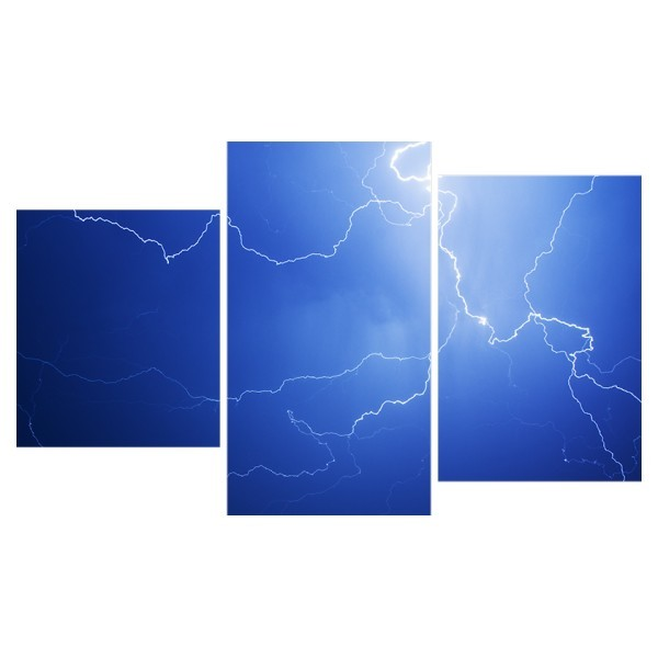 Картина модульная триптих 55*96 см, молния купить оптом и в розницу