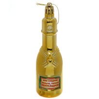 Ёлочная игрушка ″Шампанское ″Мне сладкое нельзя, только полусладкое″ купить оптом и в розницу