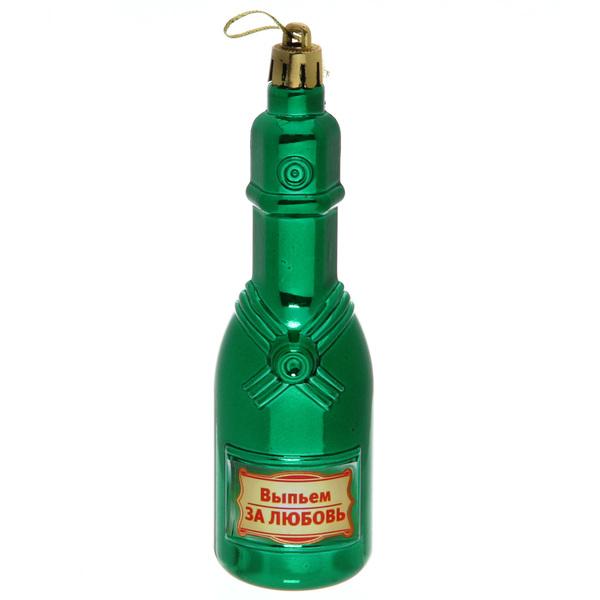 Ёлочная игрушка ″Шампанское ″Выпьем за любовь!″ купить оптом и в розницу