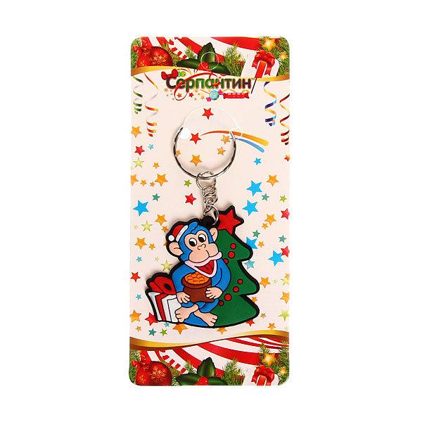Серпантин Брелок из резины ″Обезьянка с елочкой″ 4,5*4,5 см 1946-16 купить оптом и в розницу