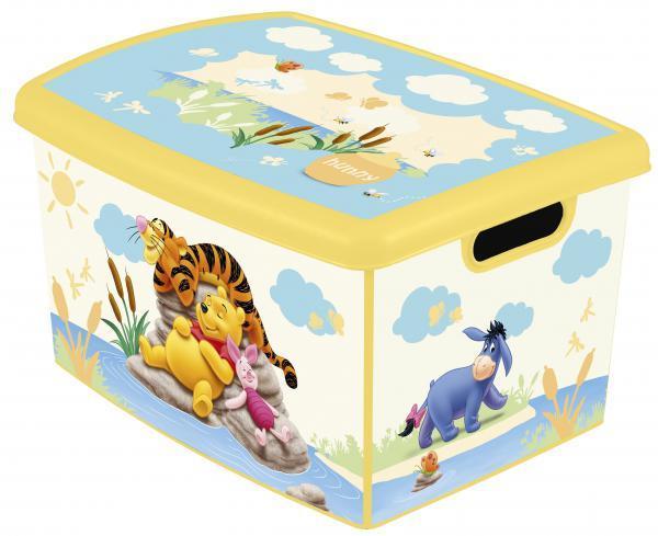 Коробка дек STOCKHOLM М  DISNEY Winnie the Pooh желтый Curver ./10 шт (295х195х135)мм купить оптом и в розницу